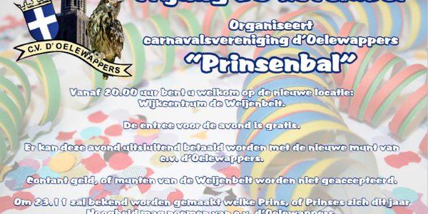 Prinsenbal: 25 November
