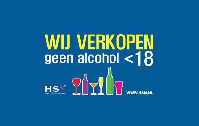 Alcoholsticker 18 Jaar